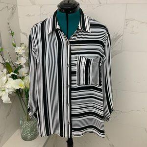 Michael Kors Black and white blouse XL